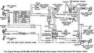 dodge d100 600 and w100 500 turn signal wiring diagram With cluster wiring diagram on dodge ram 1500 turn signal fuse box diagram