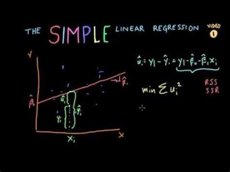 econometrics lecture  simple linear regression slr