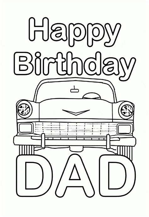 happy birthday daddy printable coloring pages coloring home