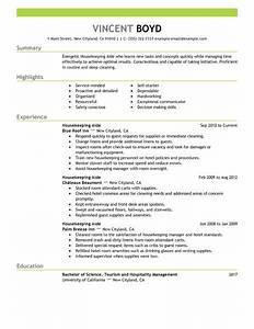 housekeeping aide resume example hotel hospitality With housekeeping resume sample