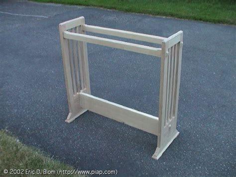 wooden quilt rack  woodworking