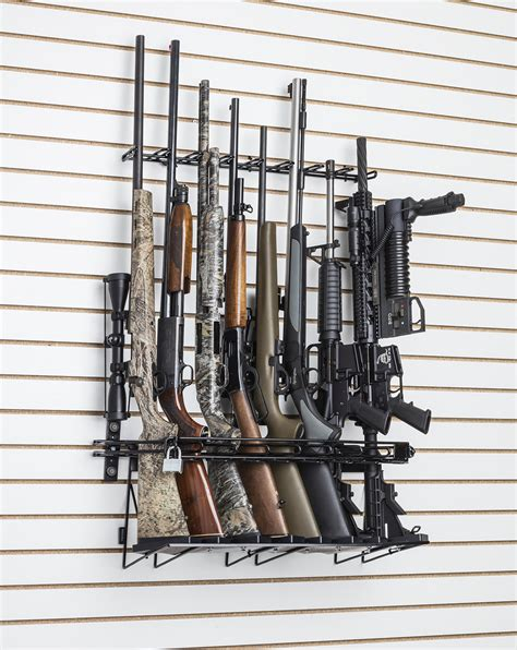 rifle slat wall locking wall display sku  rackem racks