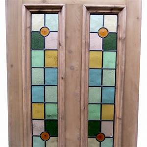 Victorian 4 Panel Stained Glass Door - Period Home Style