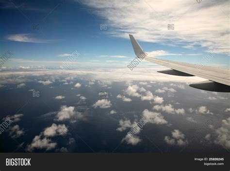 View Out Window Airplane On Way Image And Photo Bigstock