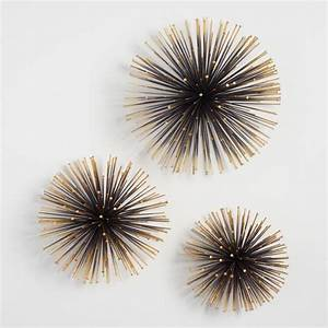 Gold sea urchin wall decor set of world market