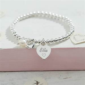 personalised sterling silver charm ball bracelet by ...