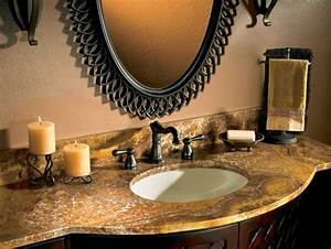 bathroom countertop styles and trends hgtv With best brand of paint for kitchen cabinets with orange candle holder