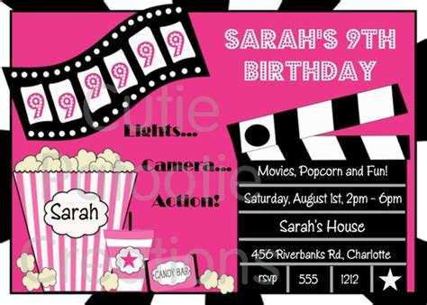 Free Printable Birthday Invitations Movie Theme  Www. Divorce Settlement Agreement Template. Pmbok Project Charter Template. Easy Business Support Manager Cover Letter. Lost Pet Template. 50 50 Raffle Flyer. Spell Bee Competition. Concert Poster Design. Best Power Plant Electrical Engineer Resume Sample
