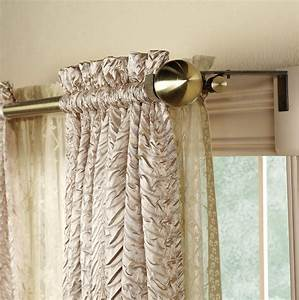 double rod curtain brackets home design ideas With double curtain holders
