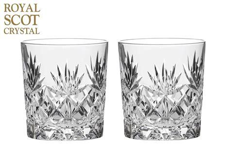 verre a whisky cristal royal scot kintyre set de 2 cristal 313ml grand whisky gobelets verres ebay