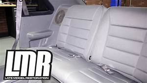 How To: Install 1979-1993 Mustang Corbeau Rear Seat Upholstery - YouTube