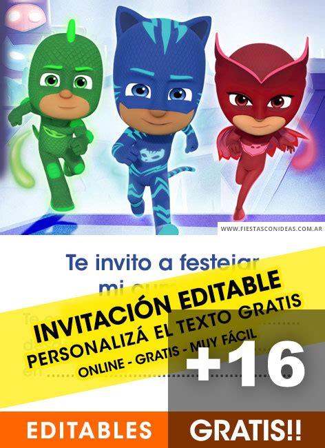 pj mask birthday invitations  edit