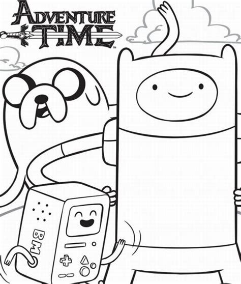 Coloring Time by Adventure Time Coloring Pages Birthday Printable