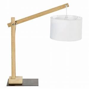 Lampe Design Bois : lampe bois taiga maisons du monde ~ Teatrodelosmanantiales.com Idées de Décoration