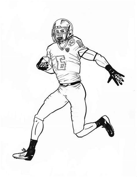 nfl scoring touch  coloring page color luna