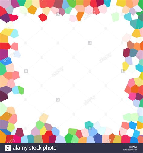 colorful border colorful border of background from polygonal mosaic tiles