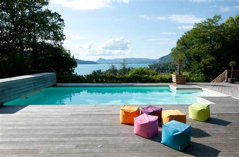 piscine bois blanc
