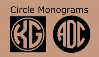 Circle Monogram Font Generator