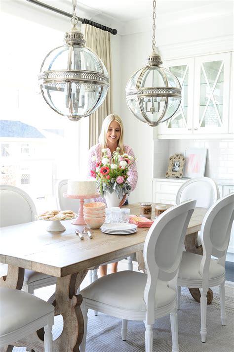 dining room inspiration lemon stripes