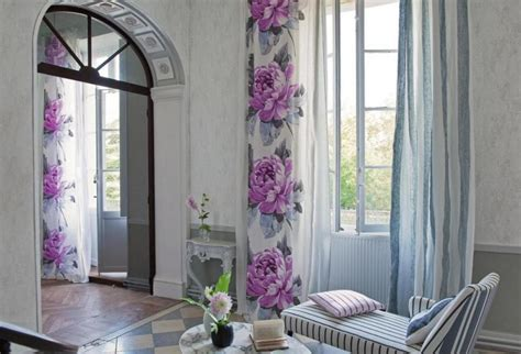 curtain color for purple wall spring flower wall beautiful curtains for living room purple color flower patterns privyhomes