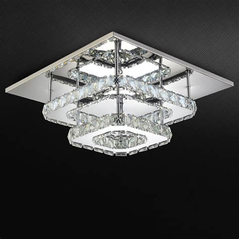 contemporary dining room ceiling lights ac100 240v modern crystal l led ceiling light stainless