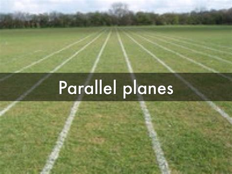 Perpendicular Planes in Real Life