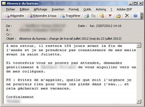 mail absence maladie bureau vos mails d 39 absence révèlent quel employé vous êtes
