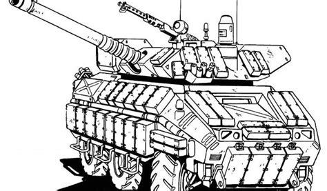 coloriage de tank militaire tank  transport coloriages