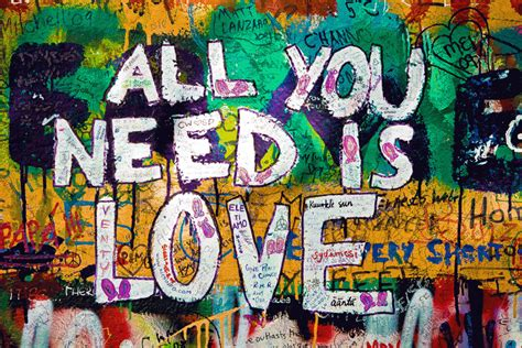 Kitchen Wall Painting Ideas - graffiti art all you need is love art print on stretched canvas by artscope the block shop