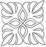 Hawaiian Stencils Leaf Quilt Patterns Stencil Cut Palm Quilting Templates Quilts Applique Motifs Dessin Template Embroidery Arabesque Broderie Maple Patchwork sketch template