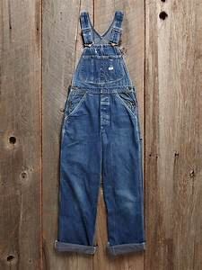 Designer Overalls Womens Free People Vintage Lee Overalls In Blue Denim Lyst