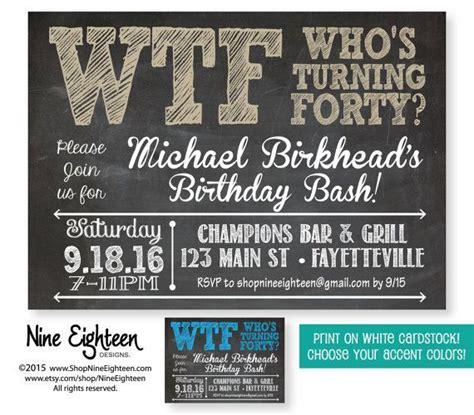 FREE 40th Birthday Invitation Wording 40th birthday