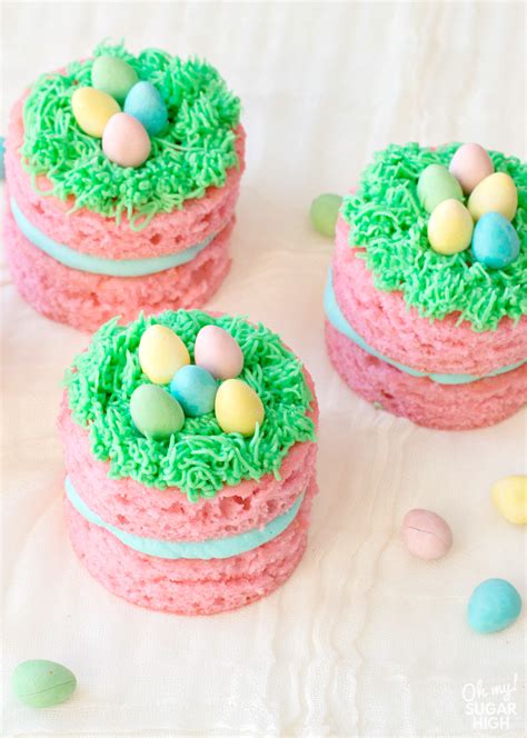 Best easter egg desserts from egg meringues with tangerine curd. Mini Easter Cakes with Chocolate Eggs - Oh My! Sugar High