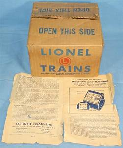 Lionel Corporation Postwar Type Rw 115v Multi Control