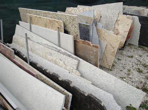 remnant pieces from granite and marble world inc in lake