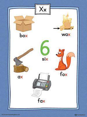 letter  word list  illustrations printable poster