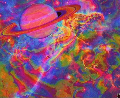 Trippy Psychedelic Saturn Space Rings Weird Colorful