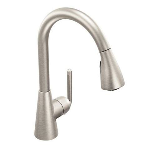 moen kitchen faucet pull out spray replacement moen ascent single handle pull down sprayer kitchen faucet in spot resist stainless s71708srs