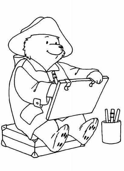 Paddington Bear Coloring Painting Drawing Printable Bears
