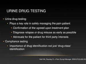education objectives for resume urine drug testing for patients with chronic