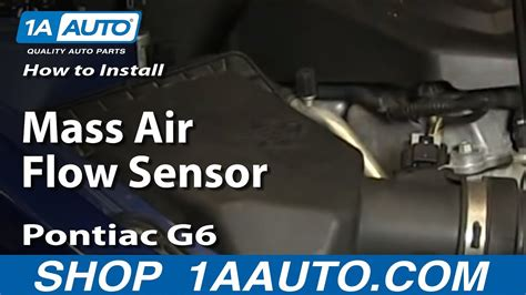 install replace mass air flow sensor