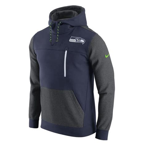 nike nfl seattle seahawks av fleece pullover hoodie