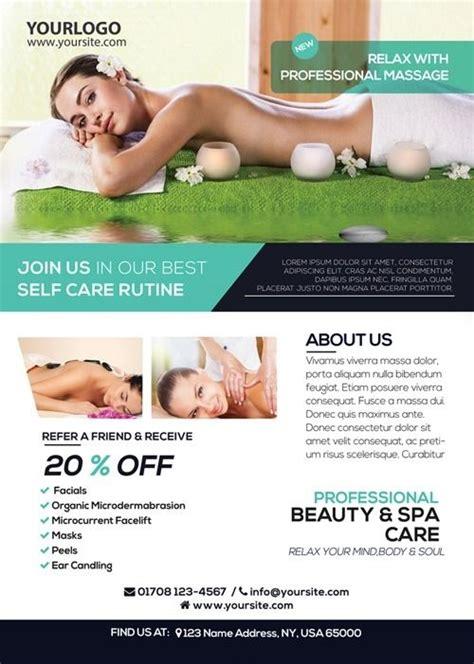 massage therapy flyer templates masaje masoterapia