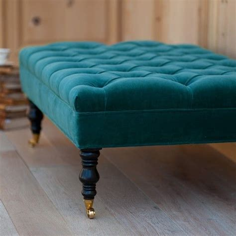tufted blue ottoman peacock blue ottoman search home style
