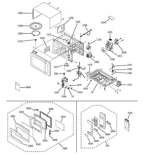 ge model zesf countertop microwave genuine parts