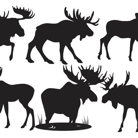Free Vector Moose Silhouette Vectors 13093 My Graphic Hunt