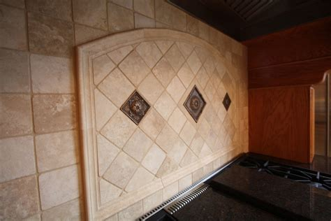 Kitchen Backsplash Medallions Kitchen Traditional With