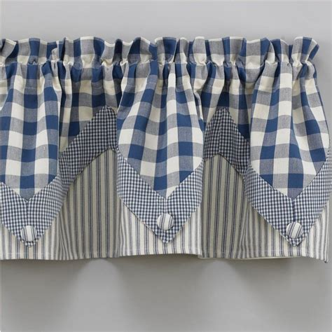 Blue Kitchen Valance by Country Valance Curtains York Country Blue Point Valance