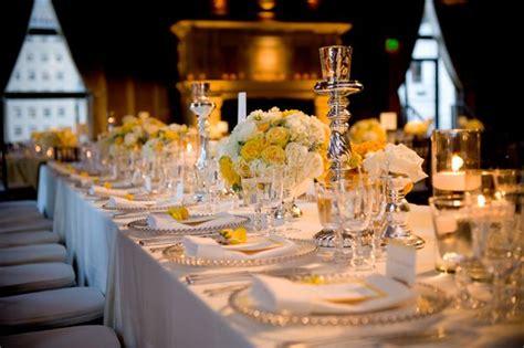 mariage jaune argent deco de talbe deco table jaune