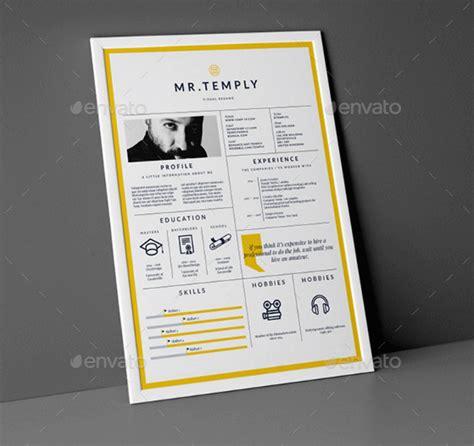 Resume Template Envato  Beautiful Template Design Ideas
